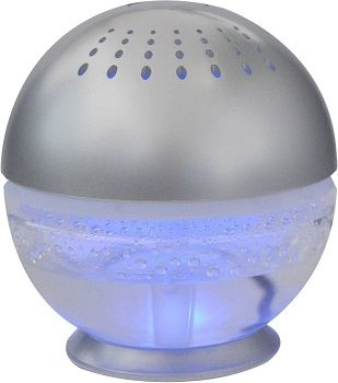 EcoGecko Earth Globe Glowing Water Air Washer and